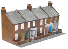 Four Red Brick Terraced Fronts - Superquick C6 - OO Low Relief kit - free post