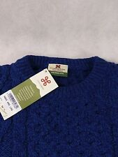 Carraig Donn Irish Aran Cable Knit Merino Wool Jumper L Made In Ireland BNWT