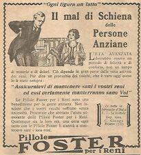 W4581 Pillole FOSTER - Il mal di schiena delle... - Pubblicità del 1931 - Advert