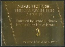 Complete Star Trek Movies Gold Plaque Chase Card G3