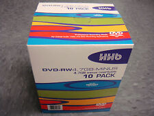 HHB PROFESSIONAL DVD-RW REWRITABLE 10 PACK BRAND NEW - BEST QUALITY MADE