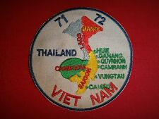 1971-72 SOUTHEAST ASIA Countries THAILAND, LAOS, CAMBODIA, And VIETNAM War Patch