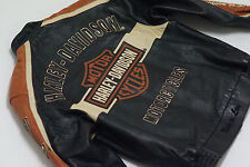 Harley Davidson Men Prestige Black B&S Lambskin Leather USA Jacket 97000-05VM XL