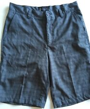 ST ANDREWS OF SCOTLAND Gray Plaid  Microfiber Golf Shorts Sz 32