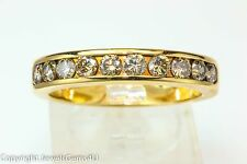 MEN'S 1.10 ct Diamond 10 stone 14K Gold Wedding Anniversary Ring Band Size 10.75