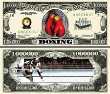 LA BOXE - BILLET 1 MILLION DOLLAR US ! Collection Sport Gant Ring Gong Combat KO