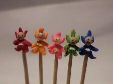 1:12 hand made in polimero Teletubbies (5) su un bastone Casa delle Bambole in Miniatura Nursery