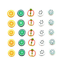 25 FIMO FRUITS NAIL ART DECORATIONS SLICES FOR NAILS LEMON LIME APPLE BANANA