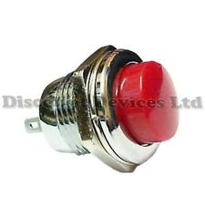 Quality Momentary SPST Push Button Switch  Metal/Red