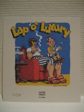 ROBERT CRUMB SUPER RARE FRENCH LIMITED PRINT 190 LAP O' LUXURY