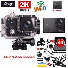 Gitup Git2 Pro Wireless WiFi 2K Helemet Sports Camera DV+44 in1  Accessories Kit