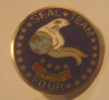 UNITED STATES NAVY USN SEAL TEAM FOUR 4 LAPEL PIN BADGE 1 INCH