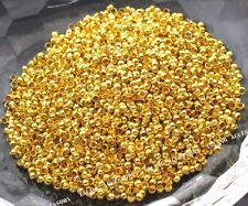 5000x Wholesale Mini Golden Spacer Crimp Stopper Bead Jewelry Finding 2mm BS