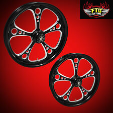 "Hayabusa, GSXR, ZX14 Custom 360mm Wheels,"" 3 Shot"" wheel set"