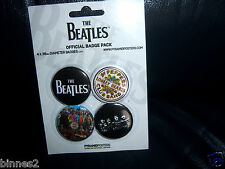 THE BEATLES SGT PEPPERS  BADGES- PINS  x 4 BRAND NEW APPLE CORPS !.