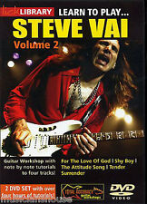 Lick Library Learn To Play Steve Vai para el amor de Dios Rock Guitarra Dvd Vol 2