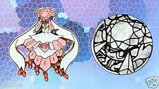 M Mega Diancie EX Metal Pin AND Coin - Pokemon Collectible Promo - Set of 2 BOTH