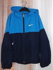 NIKE Boys Age 8-10 Years Navy & Blue Mix Lightweight Hooded Sports Jacket