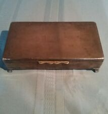 Vintage ARISTOCRAT Silver Plated Footed Jewelry / Trinket Box -Not Engraved
