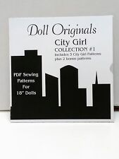 Doll Clothes Patterns DVD for American Girl & similar 18in dolls