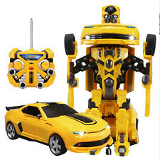 New Child Kids Distortion Remote Control Robot Transformer Car Vehicle Toys Game