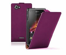 PURPLE Leather case cover for Sony Xperia L experia S36H / C2104 / C2105