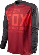 Fox Head Indicator Long Sleeve Mountain Bike Cycling Jersey Heather Red Size Sma