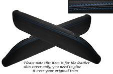 BLUE STITCH 2X FRONT DOOR ARMREST SKIN COVERS FITS DATSUN 260Z 280Z 79-83