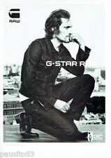 PUBLICITE ADVERTISING 1016  2012  G-Star Raw pret a porter Vincent Gallo