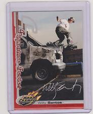 RARE 2000 AXS ROAD CHAMPS WILLY SANTOS SKATEBOARD CARD ~ SIGNATURE SERIES