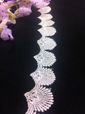 2 Yard Lot, Sea Shell Venice Lace Trim, White or Ivory, 1""
