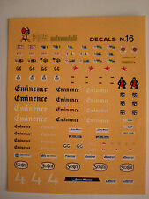 DECALS KIT 1/43 LE MANS SPONSOR GT. GR. GTS CASTROL IMSA DECALCOMANIA DECAL