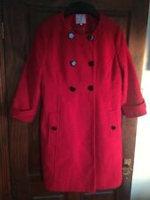 ❤⭐ JULIAN MACDONALD COAT SIZE 16 red   designer lovely ❤⭐