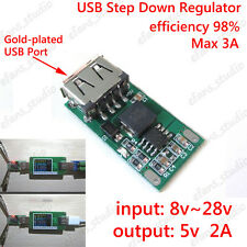 USB DC-DC Buck Voltage Converter 9V 12V 24V to 5V 2A Step-down Regulator Module