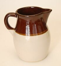 VINTAGE ROSEVILLE RRP Brown + White Stoneware Pottery Jug Pitcher
