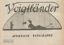 Z0775 Voigtlander Apparecchi Fotografici - Pubblicità del 1925 - Advertising