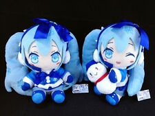 Hatsune Miku Plush Doll set of 2 official Taito Vocaloid Snow Yuki Miku 2012 ver