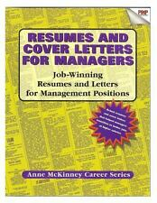 Resumes and Cover Letters for Managers by Anne McKinney (2012, Paperback)
