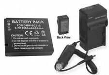 Battery + Charger for Panasonic DMC-LX5K DMC-LX5 DMCLX5