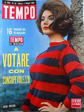 TEMPO n°18 1963 Silva Koscina - Onorevole Fanfani - Partiti votazioni [C90]