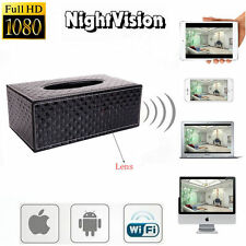 WIFI 1080P HD Spy Tissue Box Hidden Video Camera Motion DVR Digital Camcorder