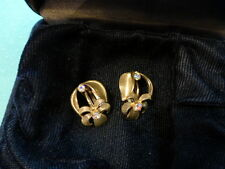 Two Antique Clip On Earrings 1970s