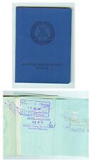 DDR GDR Ausweis Personalausweis mit Visa und Stempeln 1983 ungültig
