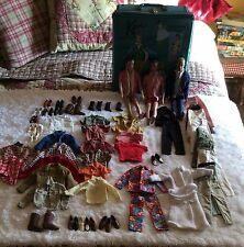 Two Vintage 1960's TM Ken Dolls,One Ken Calif. With Case Clothes And Shoes