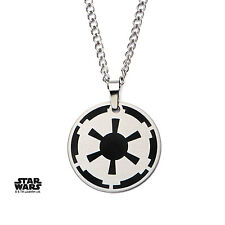 AUTHENTIC Star Wars Galactic Empire Symbol Enamel Pendant Necklace
