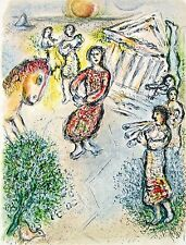 Preparation for the Candidate's Feast (The Odyessy) 1989, Ltd Ed, Marc Chagall