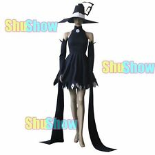 Soul Eater Blair Cosplay halloween Costume any size Hat Dress black and hight