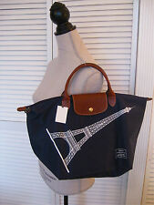 LONGCHAMP EIFFEL TOWER BAG NAVY Le PLIAGE TOTE PURSE 2016 LIMITED EDITION FRANCE