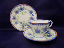Aynsley China Cornflower Trio Tea Cup, Saucer and Tea Plate