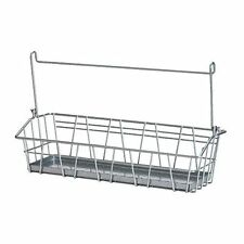 IKEA BYGEL Hanging Long Kitchen Wire Basket Storage Rack 33cm x 10cm NEW
